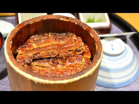 Eel Hitsumabushi at Centrair セントレアのまるやで食べる鰻ひつまぶし:Gourmet Report グルメレポート - YouTube