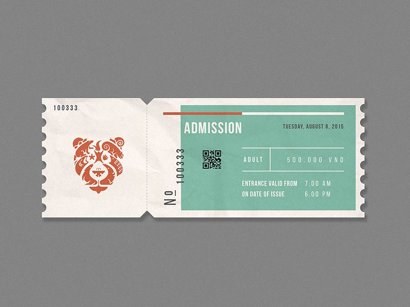 Love the bear head on this! So many different critters combining to create  the main image - masterful! Zoo ticket design by Bratus 2677fcc40f