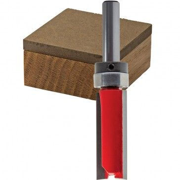 Freud 50 098 Oversized Top Bearing Flush Trim Router Bit 5 16 Dia X 1 H X 1 4 Shank Flush Trim Router Bit Router Bits Trim Router