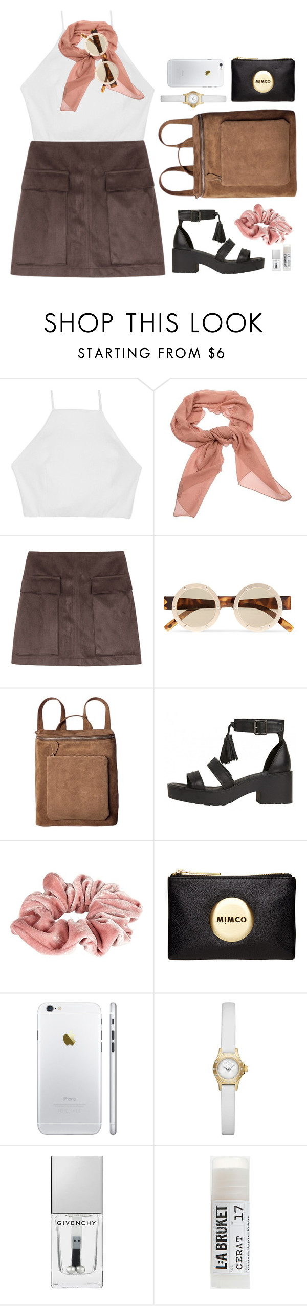 """just tune into new sensations"" by cinnamondonut ❤ liked on Polyvore featuring rag & bone, Salvatore Ferragamo, Le Specs, River Island, Mimco, Marc by Marc Jacobs, Givenchy and Toast"