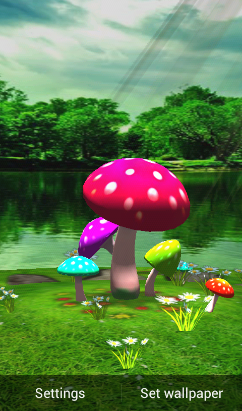 Download 3D Mushroom HD Live Wallpaper For Android