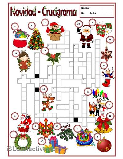 Navidad Trabajos Hojas De Trabajo De Ele Gratuitas Actividades De Navidad Hojas De Trabajo Para Navidad Juegos De Fiesta De Navidad