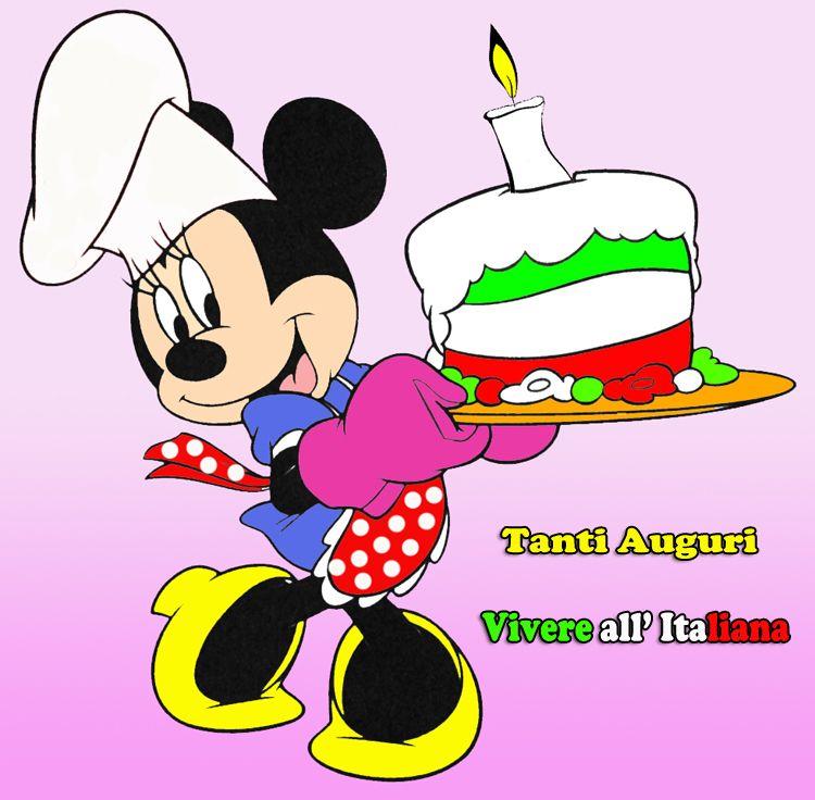 Minnie Tanti Auguri Vivere All Italiana Auguri Buon Compleanno
