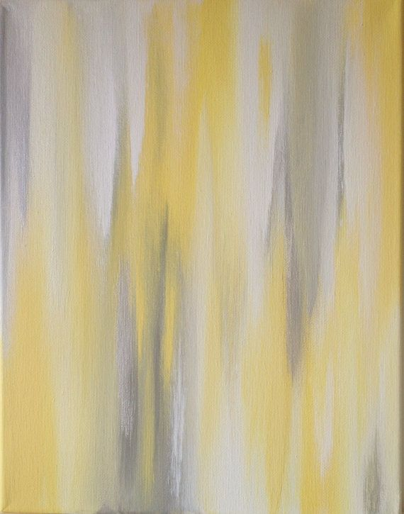 11x14 Canvas Painting Ikat Yellow Grey By Luluanddrew On Etsy