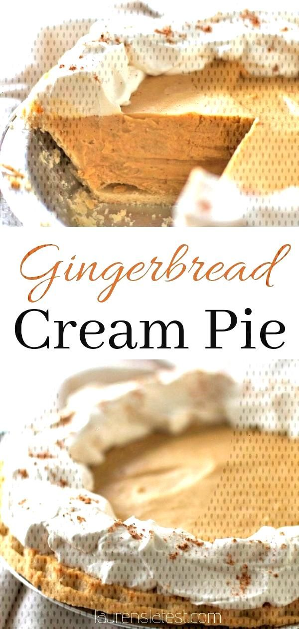 This easy gingerbread cream pie is a perfect holiday dessert and a great alternative to traditional