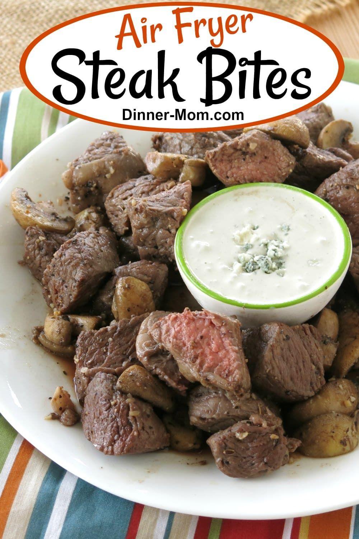 Air Fryer Steak Bites and Mushrooms Receta