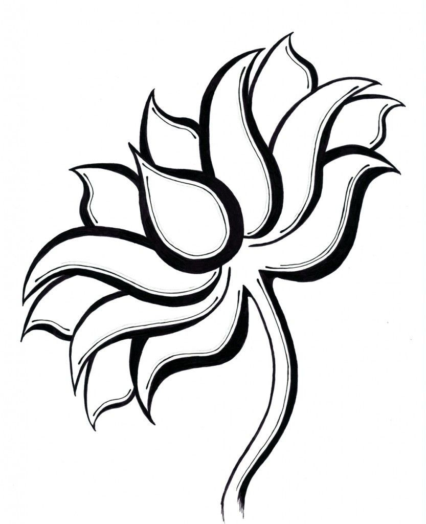 Simple lotus flower drawing tattoo tribal lotus flower tattoo 358 simple lotus flower drawing tattoo tribal lotus flower tattoo 358 izmirmasajfo