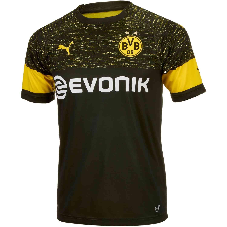 3c926f6308960 Buy the 2018 19 Puma Borussia Dortmund Away Jersey from soccerpro.com right  now.