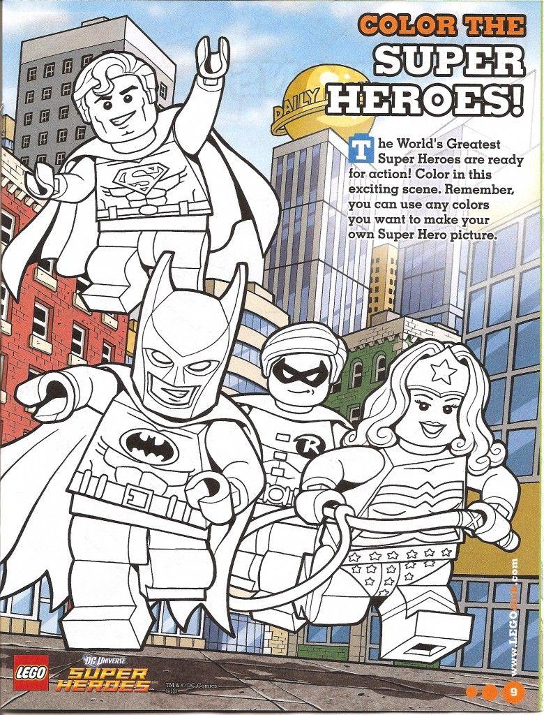 Lego Super Heros Coloring Page Free Printable | Batman party ...