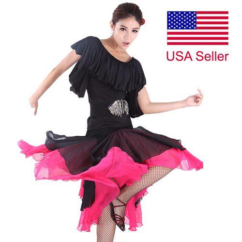 SFS010BKFS Brand New Ballroom Smooth Latin Tango Salsa Swing Dance Dress Skirt | eBay