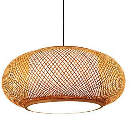 Litfad Antique Lantern Pendant Lighting Rattan Single Light