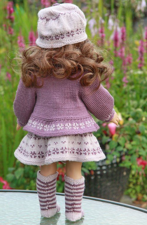 Knitting Patterns for Dolls Clothes #americandolls