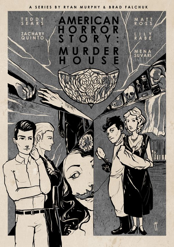 American horror story murder house inspired posters by for Murder house for sale american horror story