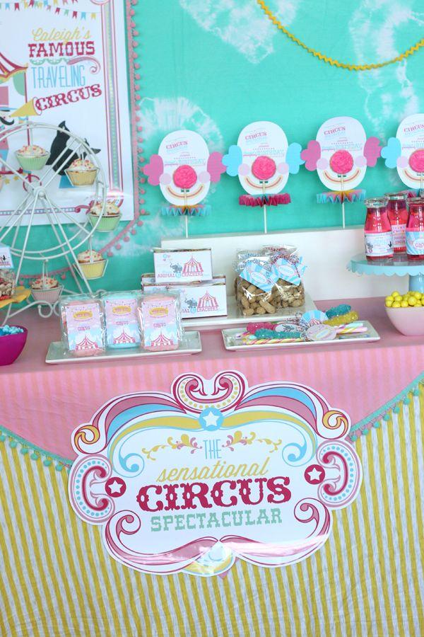 Photo of Bild + 11 + Mädchen + Zirkus + Geburtstag + Party + Ideen + druckbare + collection.jpg 600 × 900 Pixel …