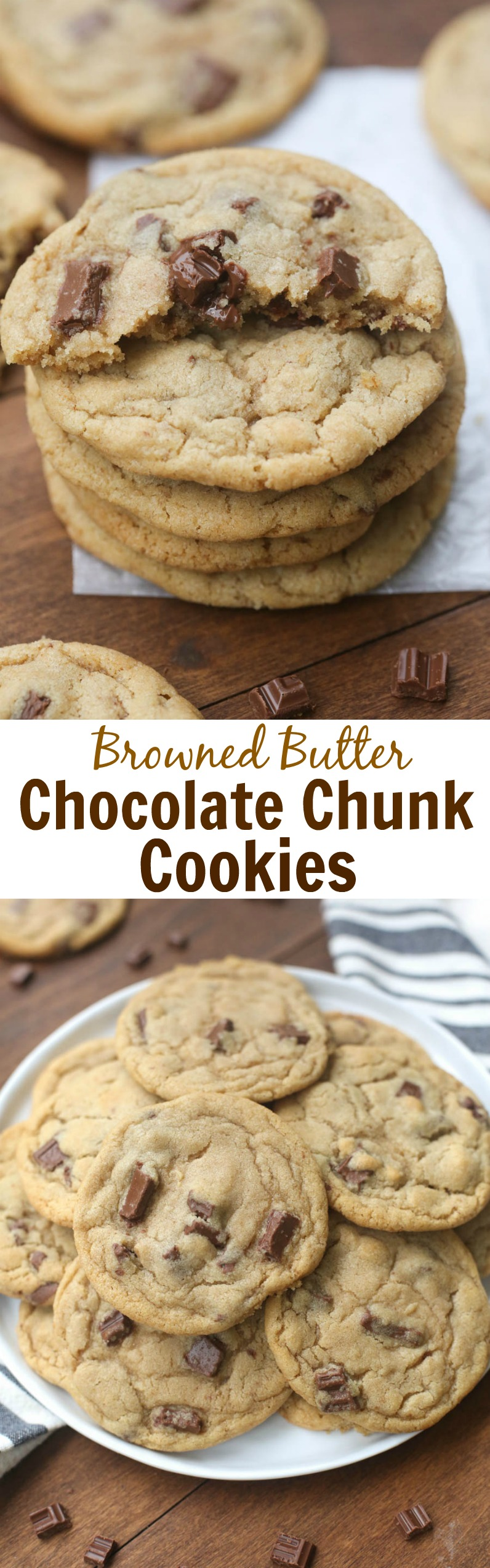 Browned Butter Chocolate Chunk Cookies. The BEST chocolate chip cookies ever!! | Tastes Better From Scratch