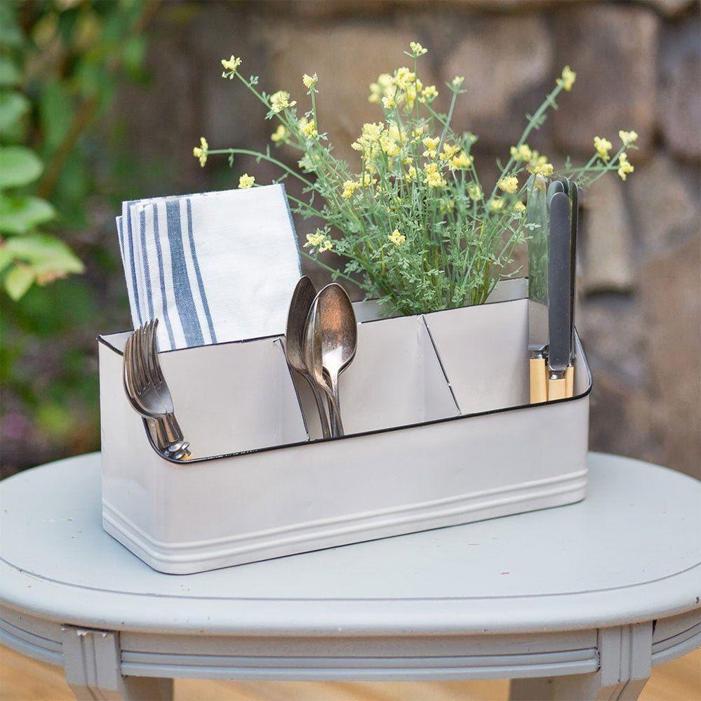 metal tabletop organizer with five 5 bins in 2020 kitchen utensil holder kitchen pictures on farmhouse kitchen utensils id=70567