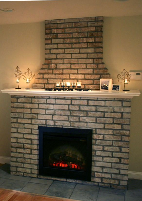 Building An Electric Fireplace With Brick Facade Electric