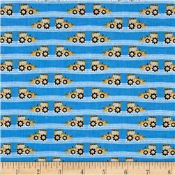 Fabric Freedom Construction Road Grader Stripe Blue Fabric Map Fabric Fabric Stamping