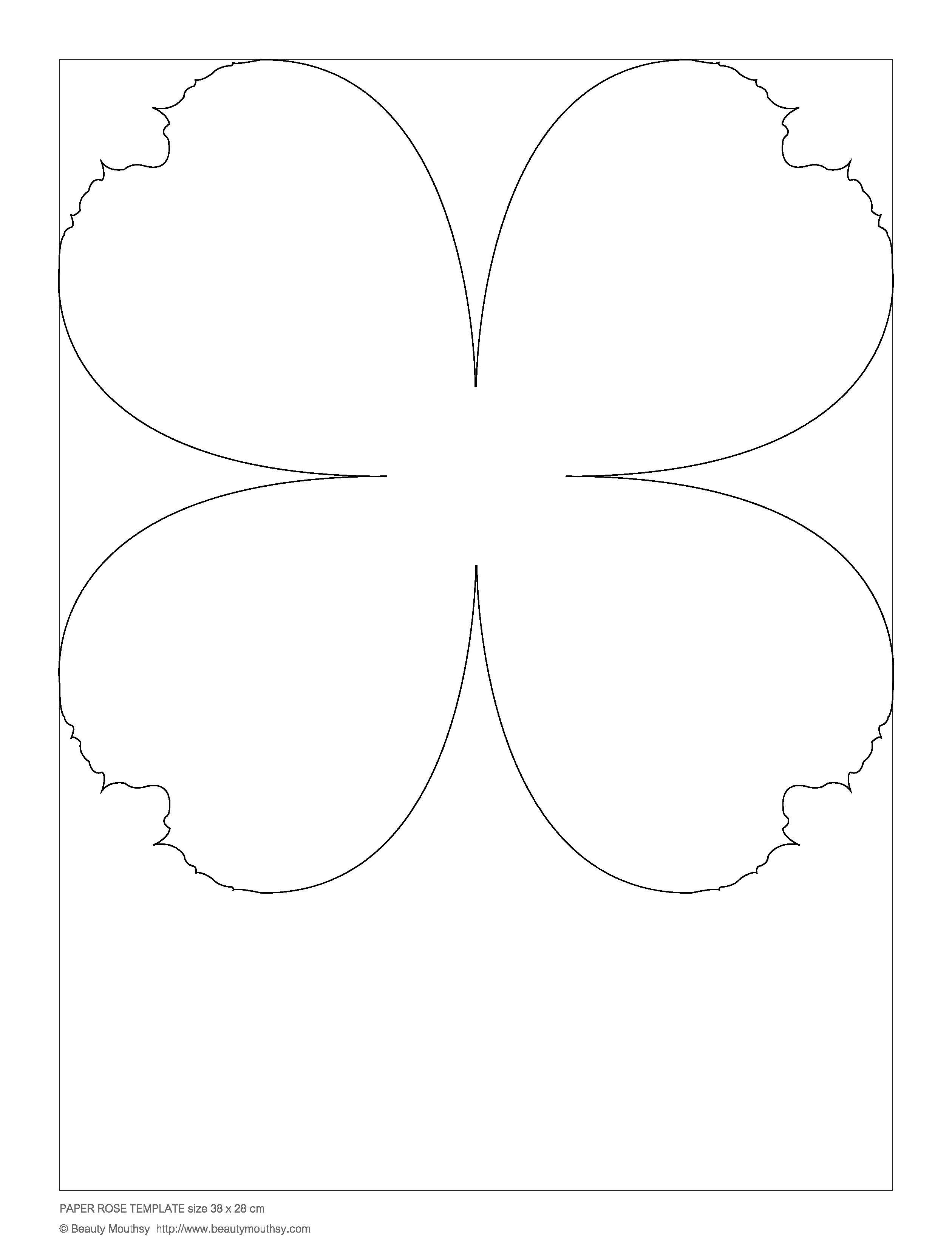 Paper Rose Template Small Flowers Giant Paper Pinterest