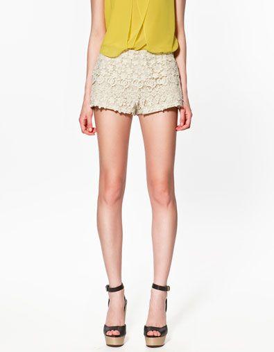 Crochet Shorts From Zara Ropa Diseño De Ropa Moda