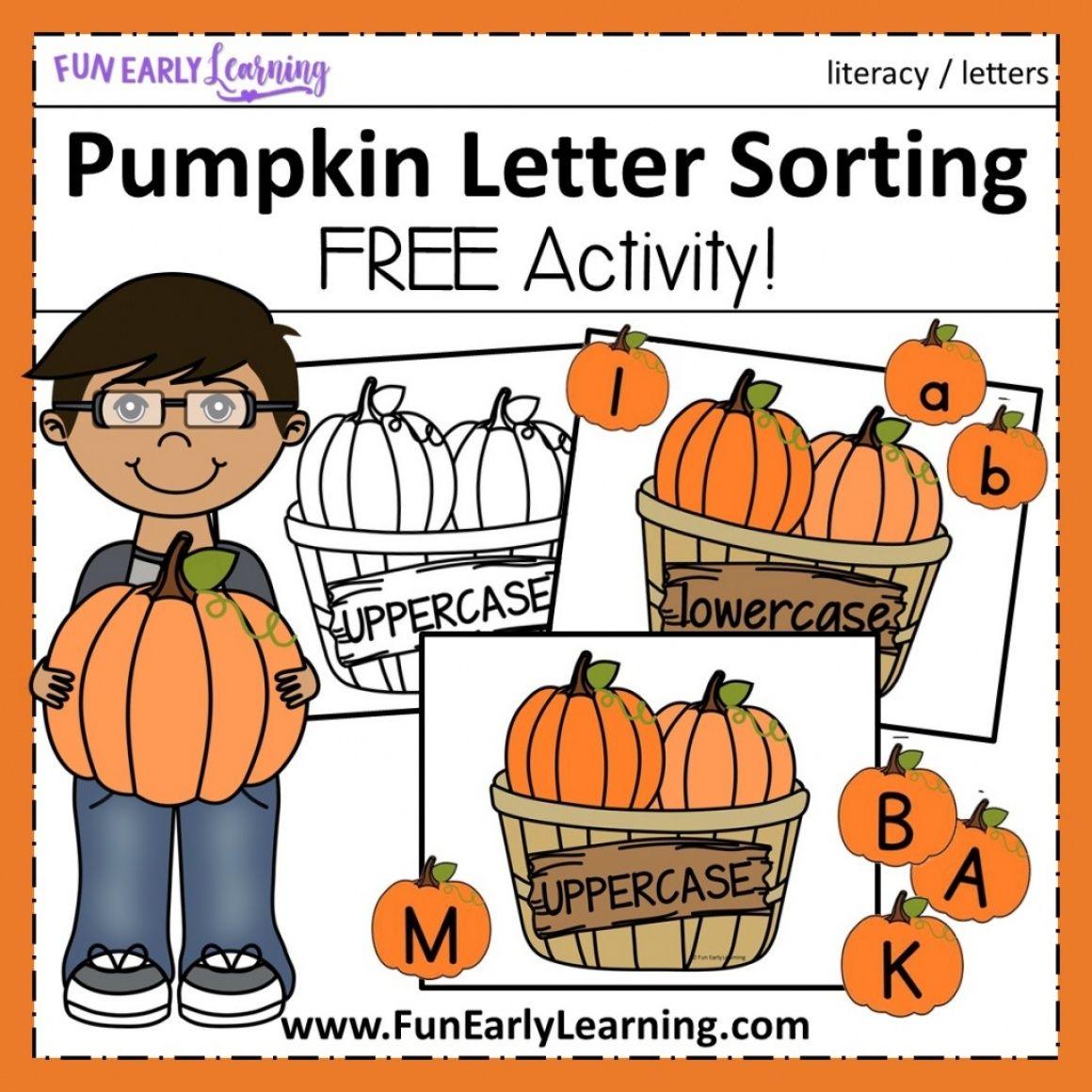 Pumpkin Letter Sorting Activity