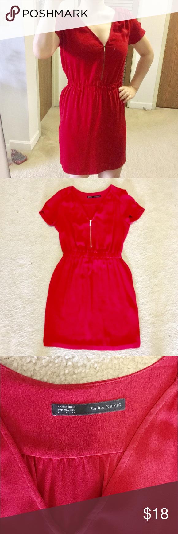 Zara zip up red dress zara dresses customer support and