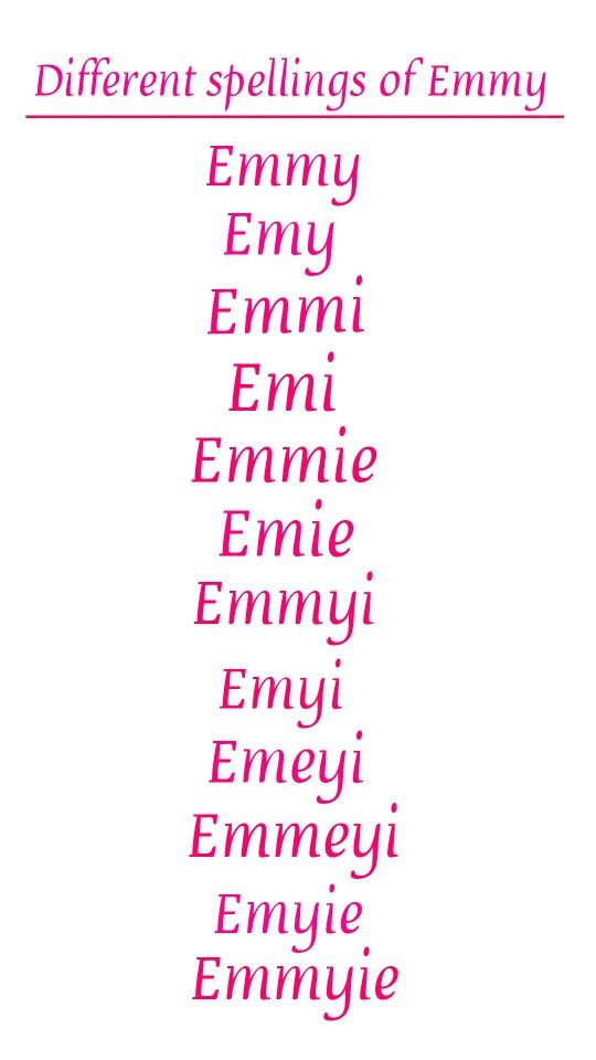 baby names different spellings of the name emmy kids pinterest