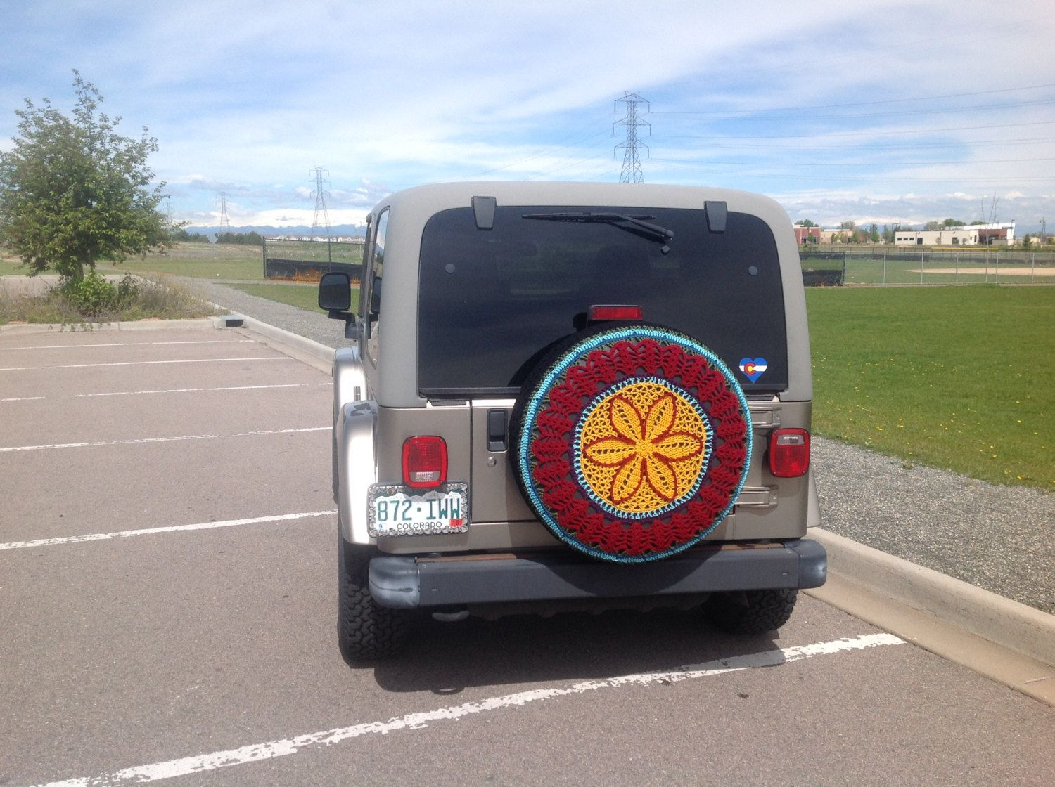 Flower Tire Cover by Unique2who on Etsy Spare tire