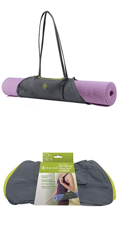 Gaiam On The Go Yoga Mat Carrier Yoga Accessories Yoga Mat Carrier Yoga Mat Bag