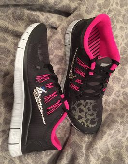 69420cb59f2a74 Just Do It LIGHT UP COLOR CHANGING Nike Swoosh Cheer Bow FULL BLACK GLITTER