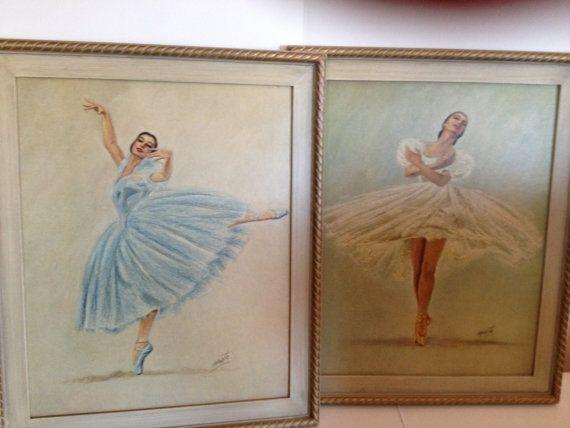 Framed Ballerina Art Prints by Monte c.1950\'s   Ballerina art ...