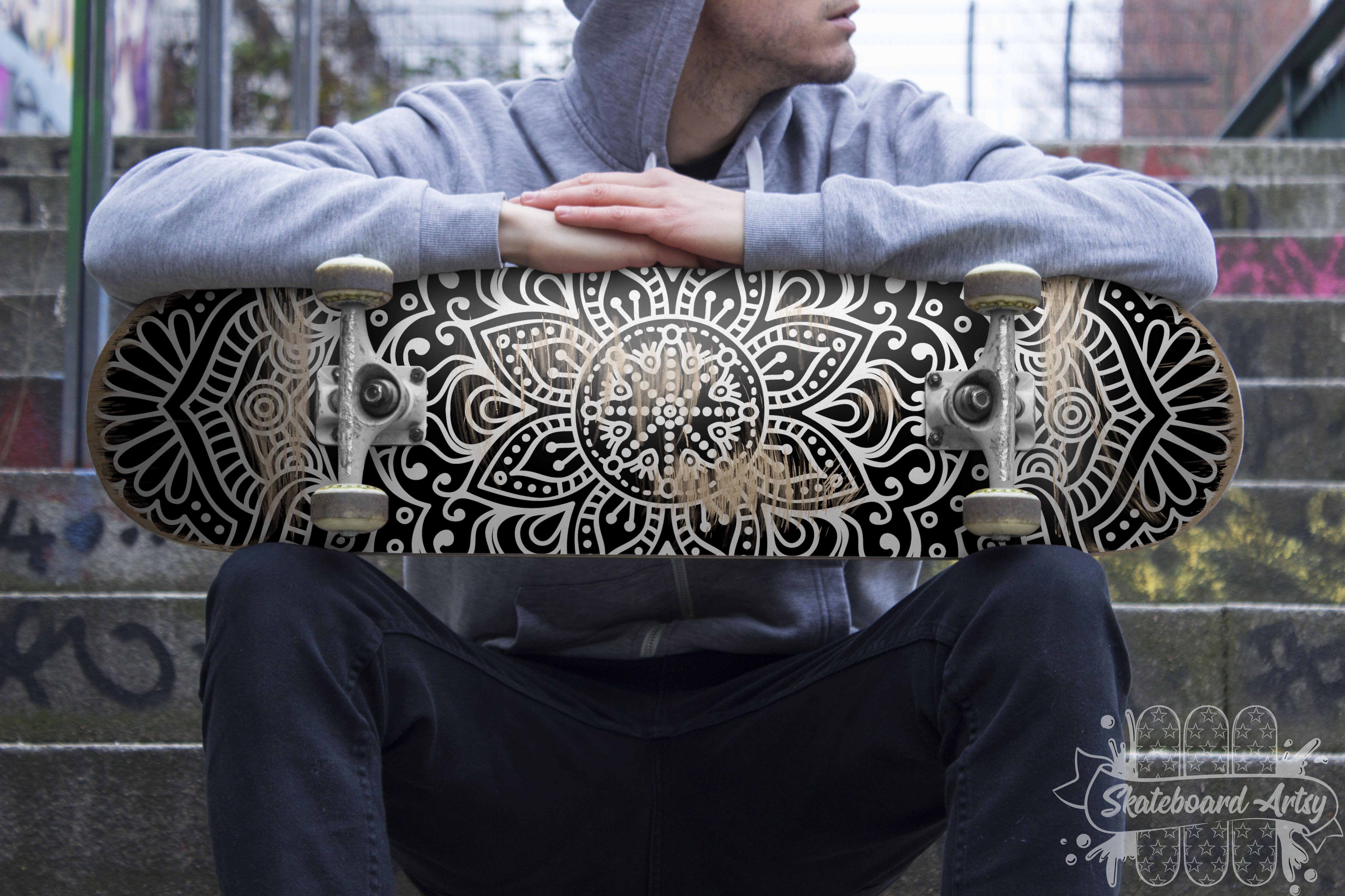 Awesome mandala deck skateboard art wall art hang it