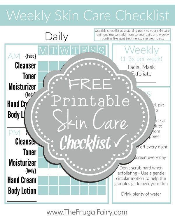 Get your skin care routine back on track with this #FREE Printable