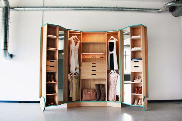 Space saving walk in closet