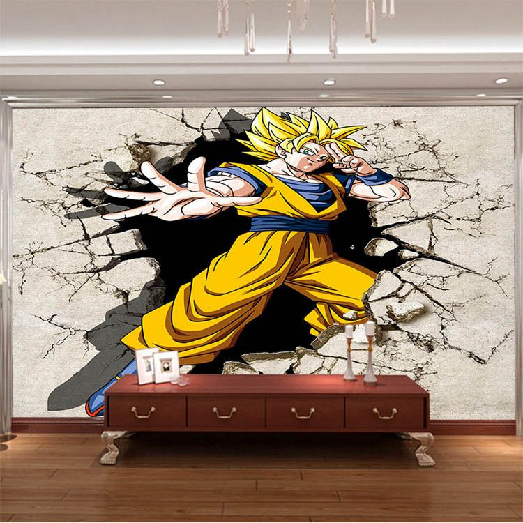 Dragon ball z bedroom decor design ideas 2017 2018 for Mural naruto