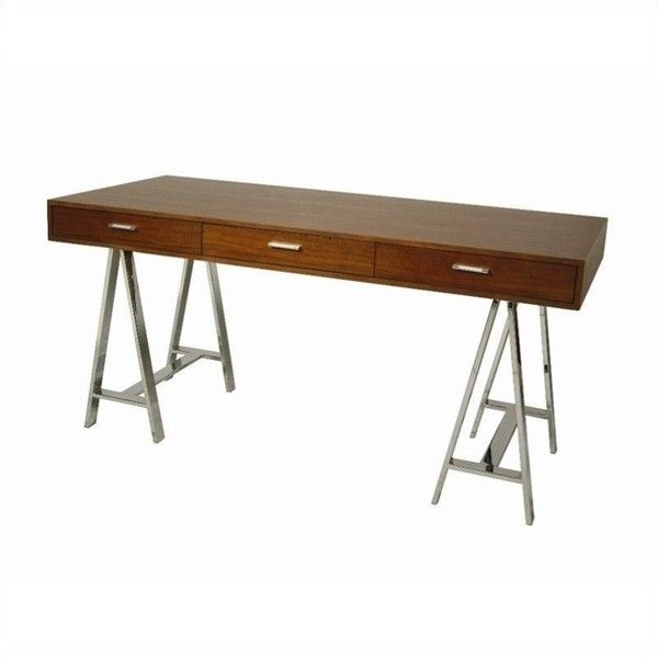 Pastel Furniture Fountainbleau Office Desk 959 Liked On Polyvore Featuring Home Furniture Desks Ch Best Home Office Desk Office Desk Walnut Desk Office