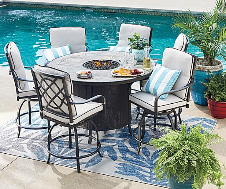 Wilson Fisher Grandview 7 Piece Patio Dining Set At Big Lots