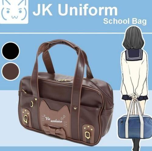 Japanese JK Uniform Bag Cute Cat Lolita Handbag School Messenger Shoulder Bags