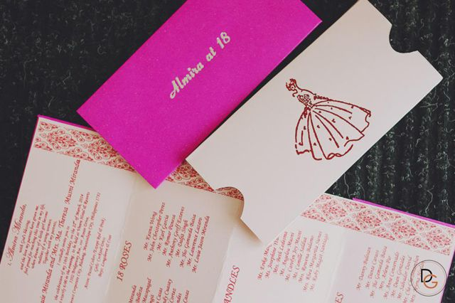 Pretty in pink and gold-- a young and elegant debut suite - fresh invitation letter for birthday debut