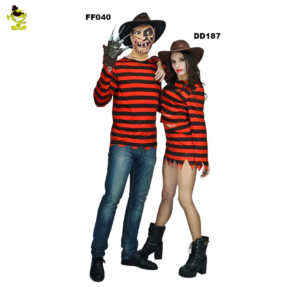 new arrivals freddy killer costumes with claw halloween costume women dress man clothing couple sets for
