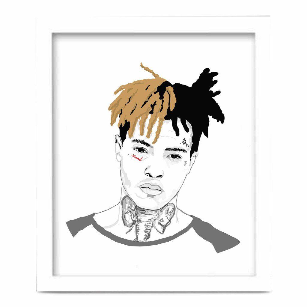 Drawing Xxxtentacion: XXXtentacion Art Poster (8x10 To 24x36