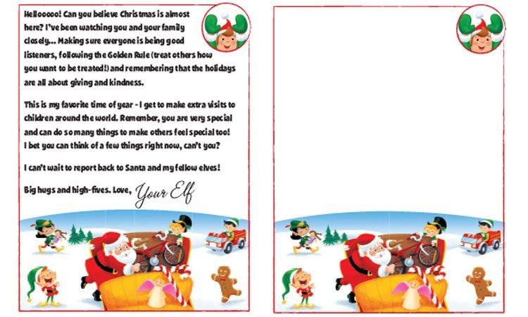 Letter From Santa Clip Art Elf On A Shelf T Santa Letter