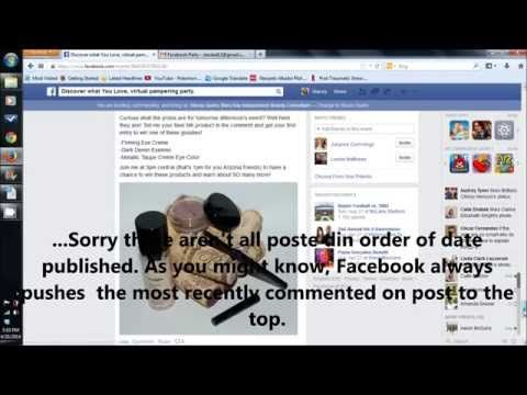 ▶ Hosting a Mary Kay Facebook Party - YouTube