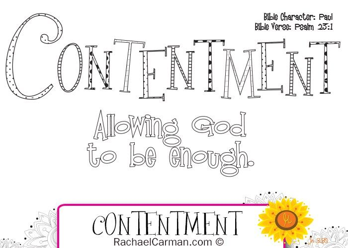 Character Quality Contentment Character Qualities Bible