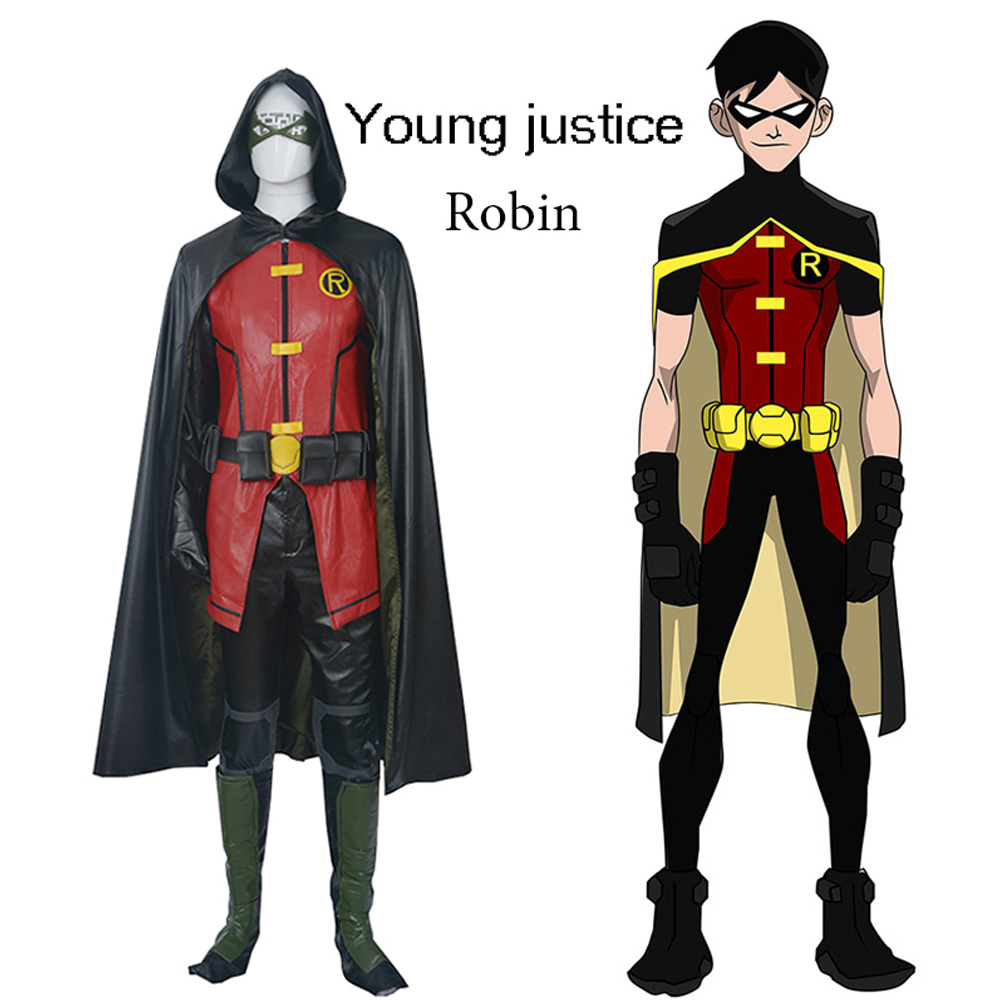 Robin Mens Fancy Dress Batman Movie Comic Adult Superhero Cosplay Costume Outfit