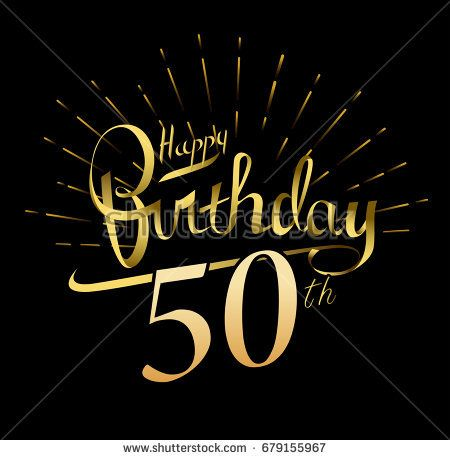 50th Happy Birthday Logo Beautiful Greeting Card Poster With