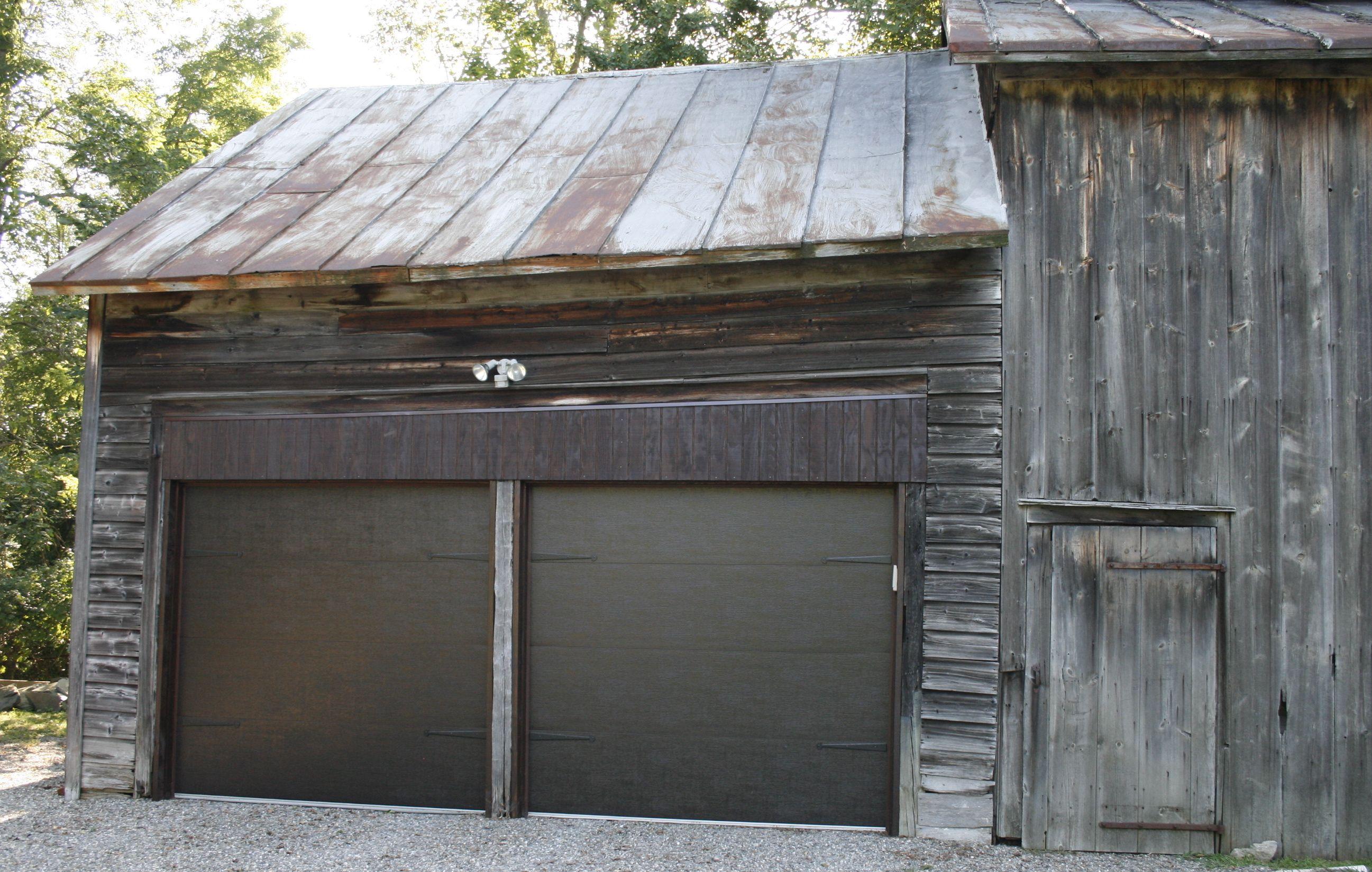 Raynor Accufinish Overhead Door Walnut Flush Panel Dutchess OVerhead Doors