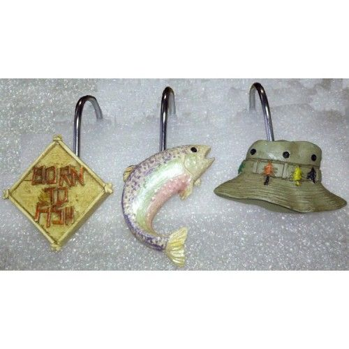 fish shower curtain hooks - Google Search | fish shower curtains and ...