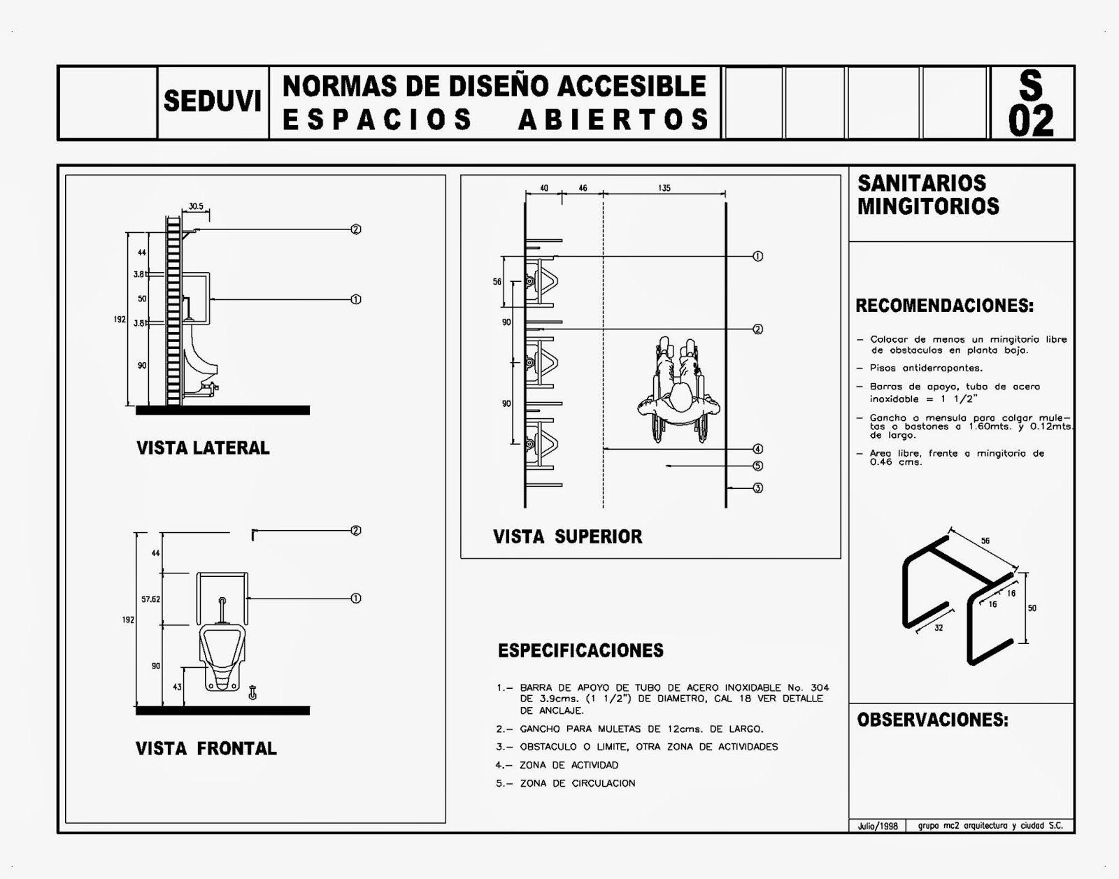 Ba o discapacitados bloque cad todo para el arqui normas dise o discapacitados 5 seduvi - Bloques autocad banos ...