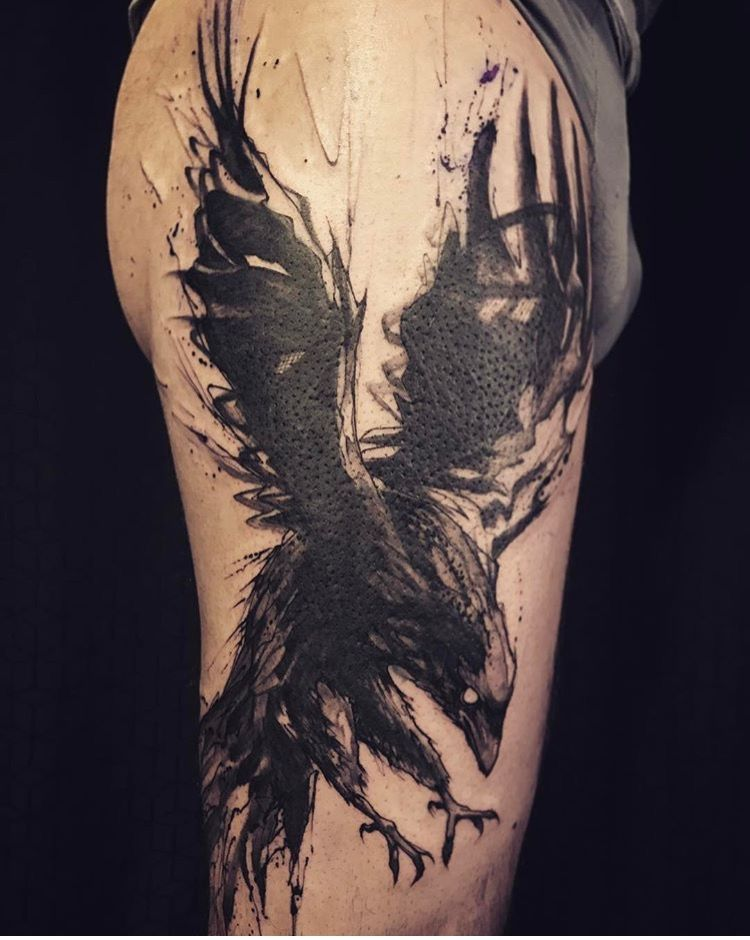 l 39 oiseau tattoo raven the french crew tattoos tattoo designs dove tattoos. Black Bedroom Furniture Sets. Home Design Ideas